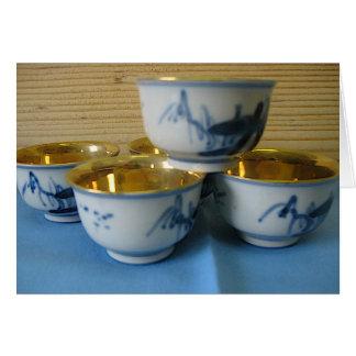 sake cups greeting card