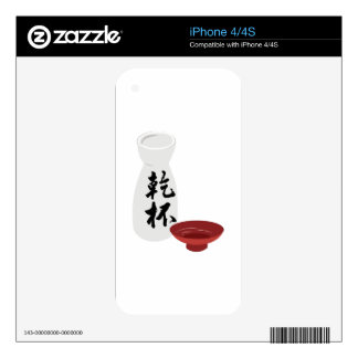 Sake Decal For iPhone 4
