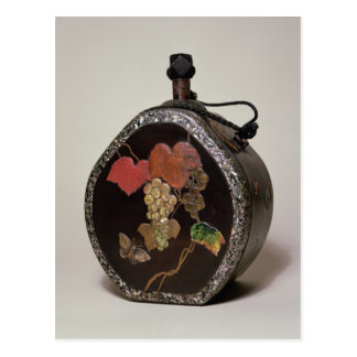Sake flask inlaid with mother of pearl postcard