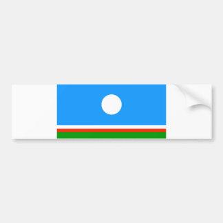 Sakha ethnic flag region country russia Yakutia Bumper Stickers
