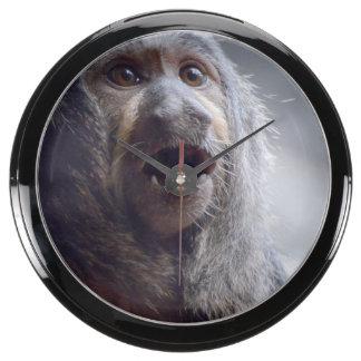Saki Monkey Face Aquarium Clocks