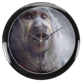 Saki Monkey Face Fish Tank Clock