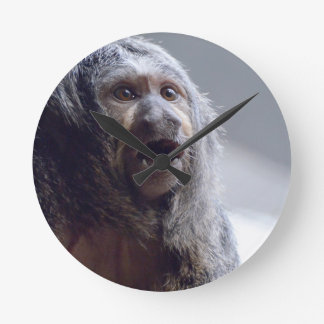 Saki Monkey Face Round Wall Clock