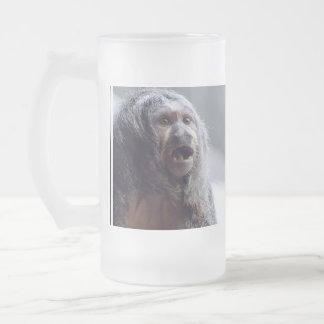 Saki Monkey Face Glass Beer Mugs