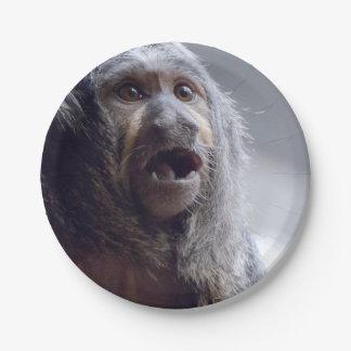 Saki Monkey Face 7 Inch Paper Plate