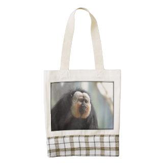 Saki Monkey Zazzle HEART Tote Bag