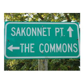 Sakonnet Point, The Commons, Little Compton, RI Postcard