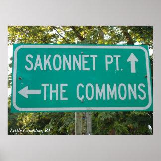 Sakonnet Point, The Commons, Little Compton, RI Poster