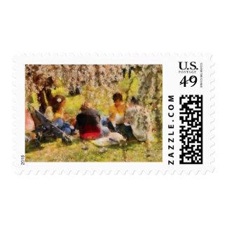 Sakura - Afternoon Picnic Postage Stamp