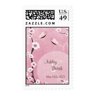 Sakura and Butterflies Wedding Postage