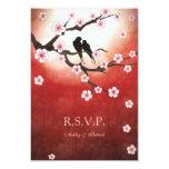 Sakura and Love Birds RSVP Invites