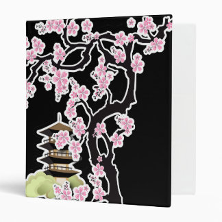 Sakura and Pagoda Japanese Design Binder
