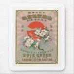 Sakura and Sun Vintage Japanese Silk Label Mouse Pad