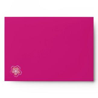 Sakura Batik Stripes pink A7 Envelope