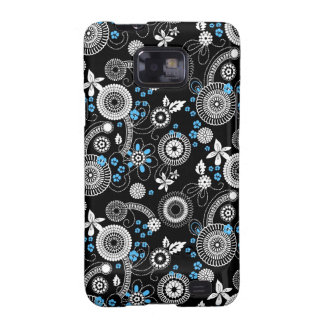 Sakura black white blue Galaxy case Samsung Galaxy Covers