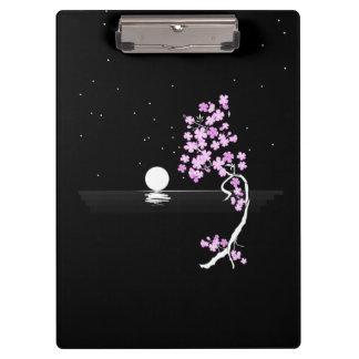 Sakura Blooms under a Full Moon Clipboards