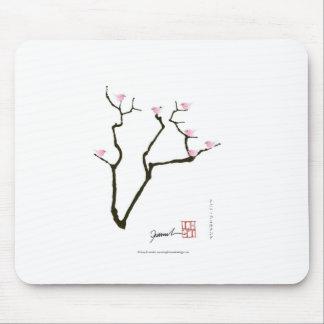 sakura blossom and pink birds, tony fernandes mouse pad