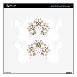 Sakura Blossom Ornament 3 Decal For PS3 Controller
