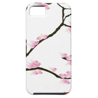 sakura blossom with pink birds, tony fernandes iPhone SE/5/5s case