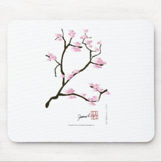 sakura blossom with pink birds, tony fernandes mouse pad