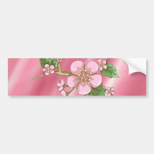 Sakura Blossoms Car Bumper Sticker