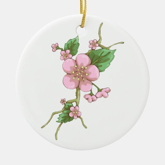 Sakura Blossoms Ceramic Ornament