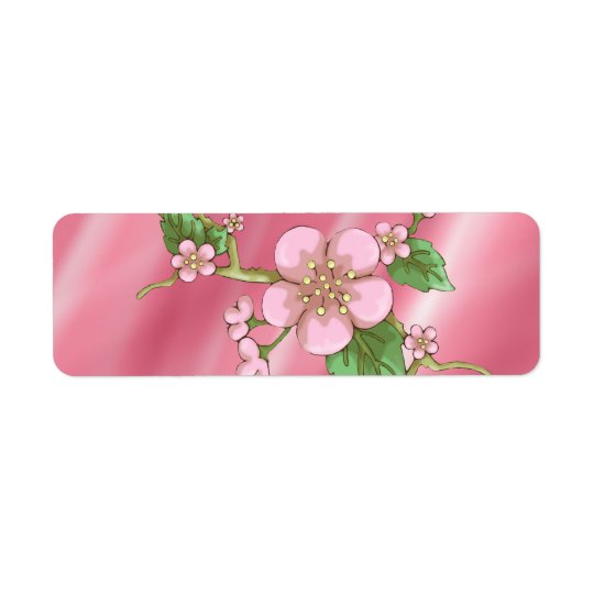 Sakura Blossoms Label
