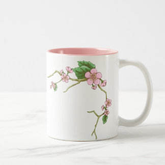 Sakura Blossoms Two-Tone Coffee Mug