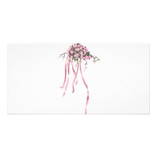 Sakura Bouquet Custom Photo Card