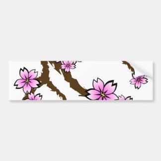 Sakura Branch Bumper Sticker