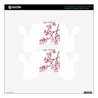 Sakura Branch Painting 4 Decal For PS3 Controller