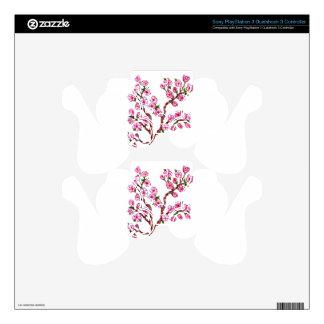 Sakura Branch Painting PS3 Controller Decals