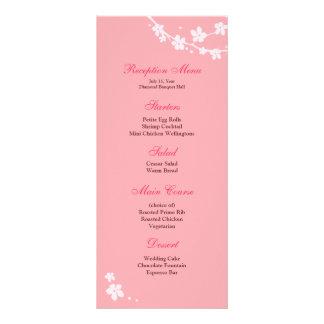 Sakura Branch Silhouette Reception Menu