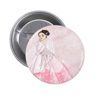 Sakura Bride Button