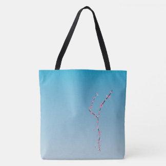 sakura cherry blossom blue tote bag __ beauty