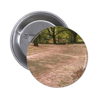 Sakura Cherry Blossom Path Pinback Button