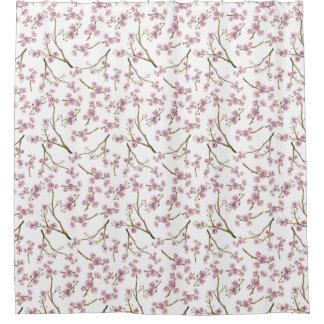 Sakura Cherry Blossom Print Shower Curtain