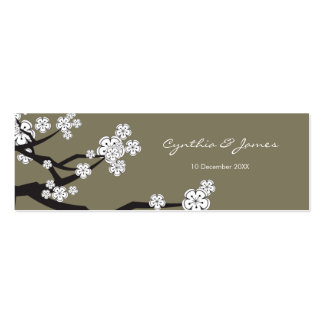 Sakura Cherry Blossoms Asian Wedding DIY Gift Tags Double-Sided Mini Business Cards (Pack Of 20)