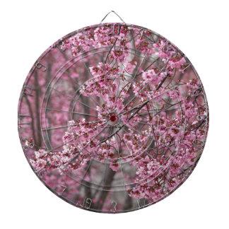 Sakura Cherry Blossoms Flowing Pink Dartboard