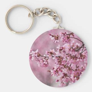Sakura Cherry Blossoms Pastel Pink Layers Keychain