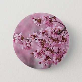 Sakura Cherry Blossoms Pastel Pink Layers Pinback Button