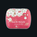"""Sakura Cherry Blossoms Pink Party Candy Tin<br><div class=""""desc"""">Beautiful sakura pink Cherry Blossoms designed tin Jelly Belly sweets wedding favor candies perfect as giveaways for your guests,  entourage,  friends and relatives on your special day</div>"""