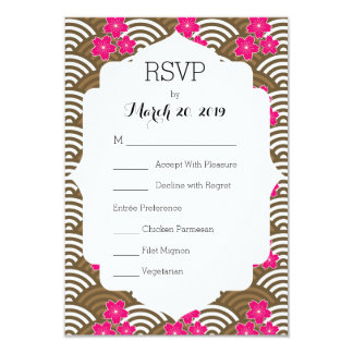 Sakura Cherry Blossoms RSVP Card