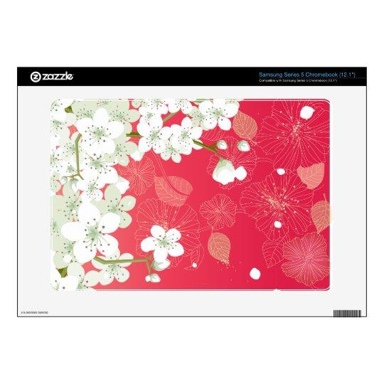 Sakura Cherry Blossoms Samsung Chromebook Skins