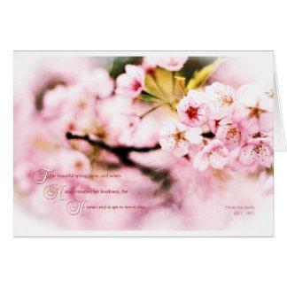 Sakura Cherry Blossoms Spring Nature Loveliness Card