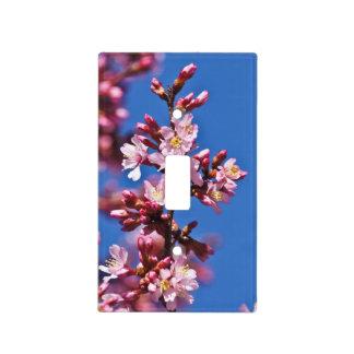 Sakura Cherry Blossoms Touching Blue Light Switch Cover