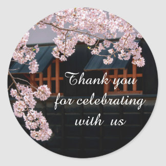 Sakura Cherry Blossoms Wedding Flowers Stickers
