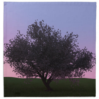 Sakura Cherry Tree at Dusk Cloth Napkin