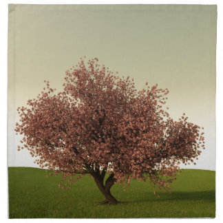 Sakura Cherry Tree at Sunset Napkin