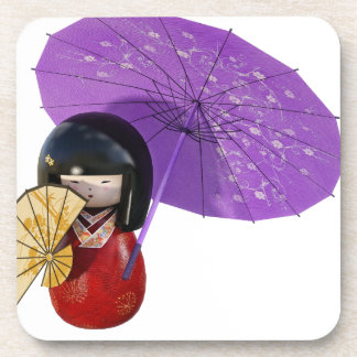 Sakura Doll with Umbrella Coaster